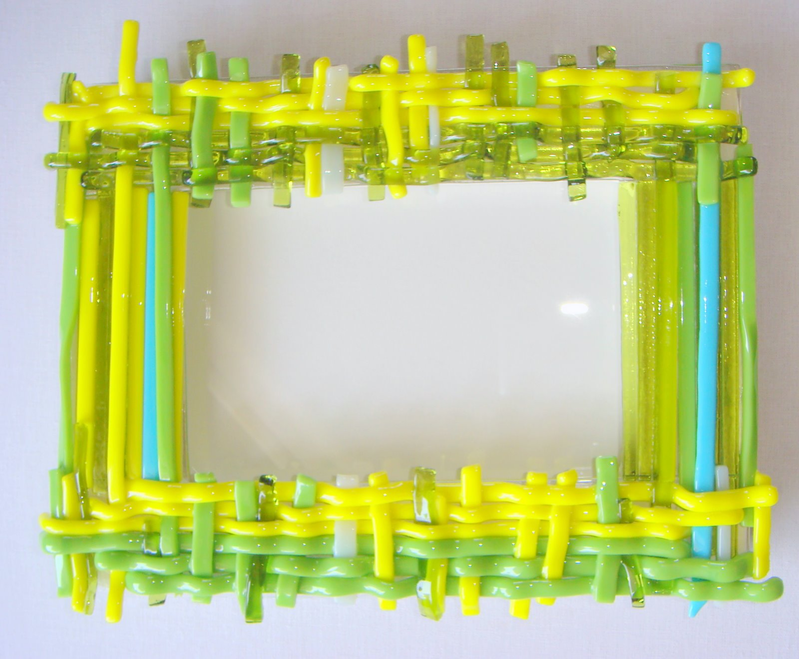 fused glass picture frames and mirrors