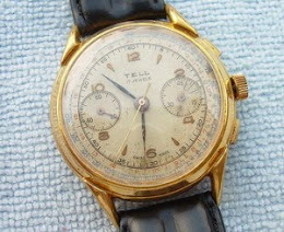 Tell chronograph winding