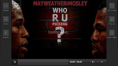Mayweather and Mosley: 1 Hour and Some Minutes Counting.