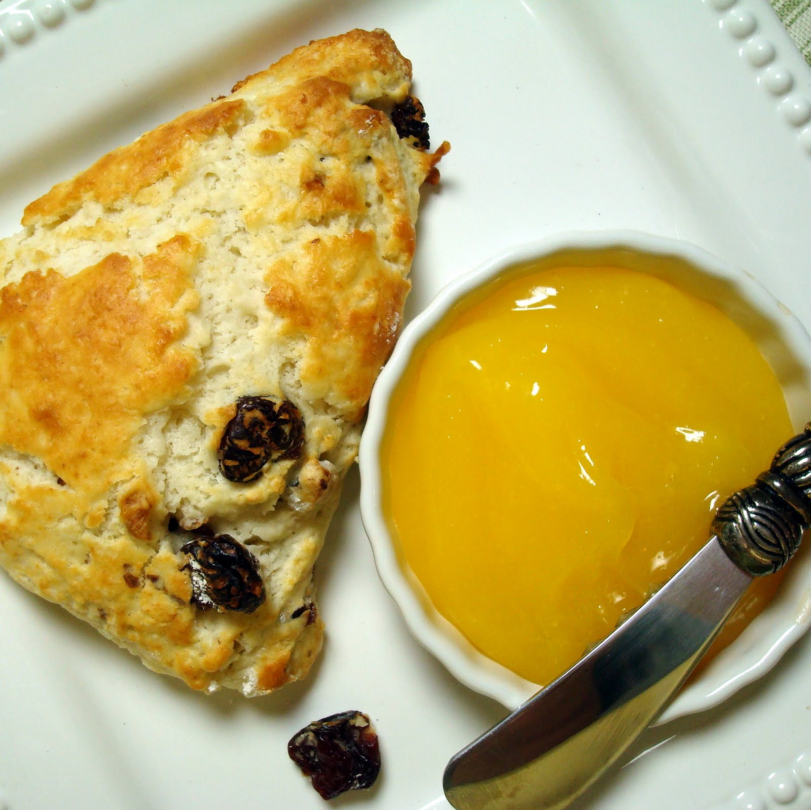 Warm Cherry-Walnut Scones with Lemon Curd - A Spicy Perspective