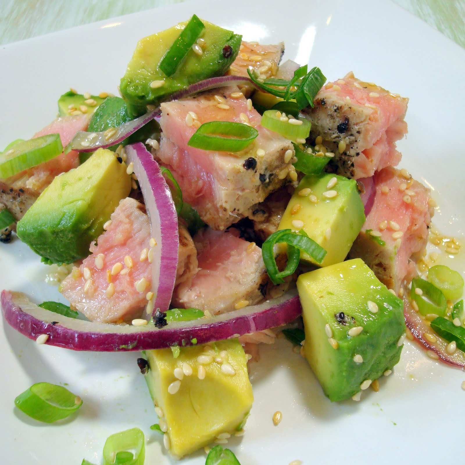 Grilled Tuna And Avocado Salad A Spicy Perspective