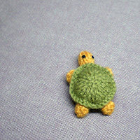 green and yellow turtle fridge magnet