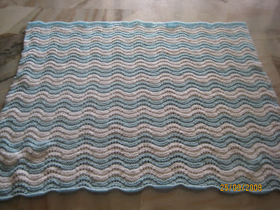 Cyns Crochet Knitting Corner Feather And Fan Baby Blanket