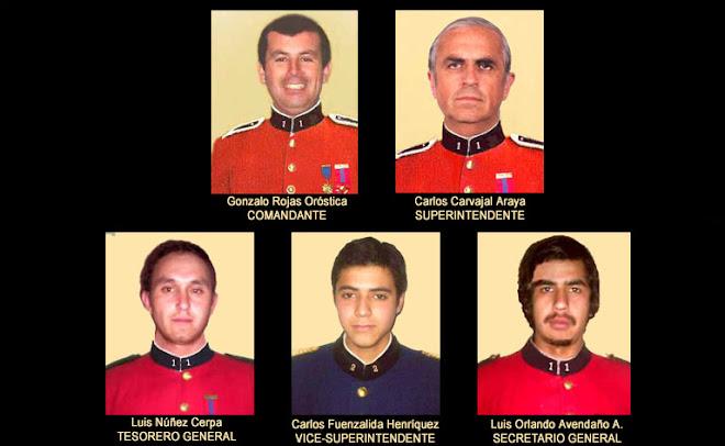 OFICIALIDAD GENERAL 2009, CUERPO DE BOMBEROS DE PENCAHUE