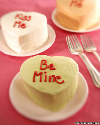 Mini Heart-Shaped Cake. Easy Doily Valentines