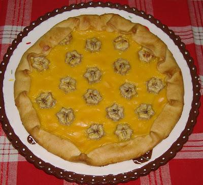 Brisè con crema e banane