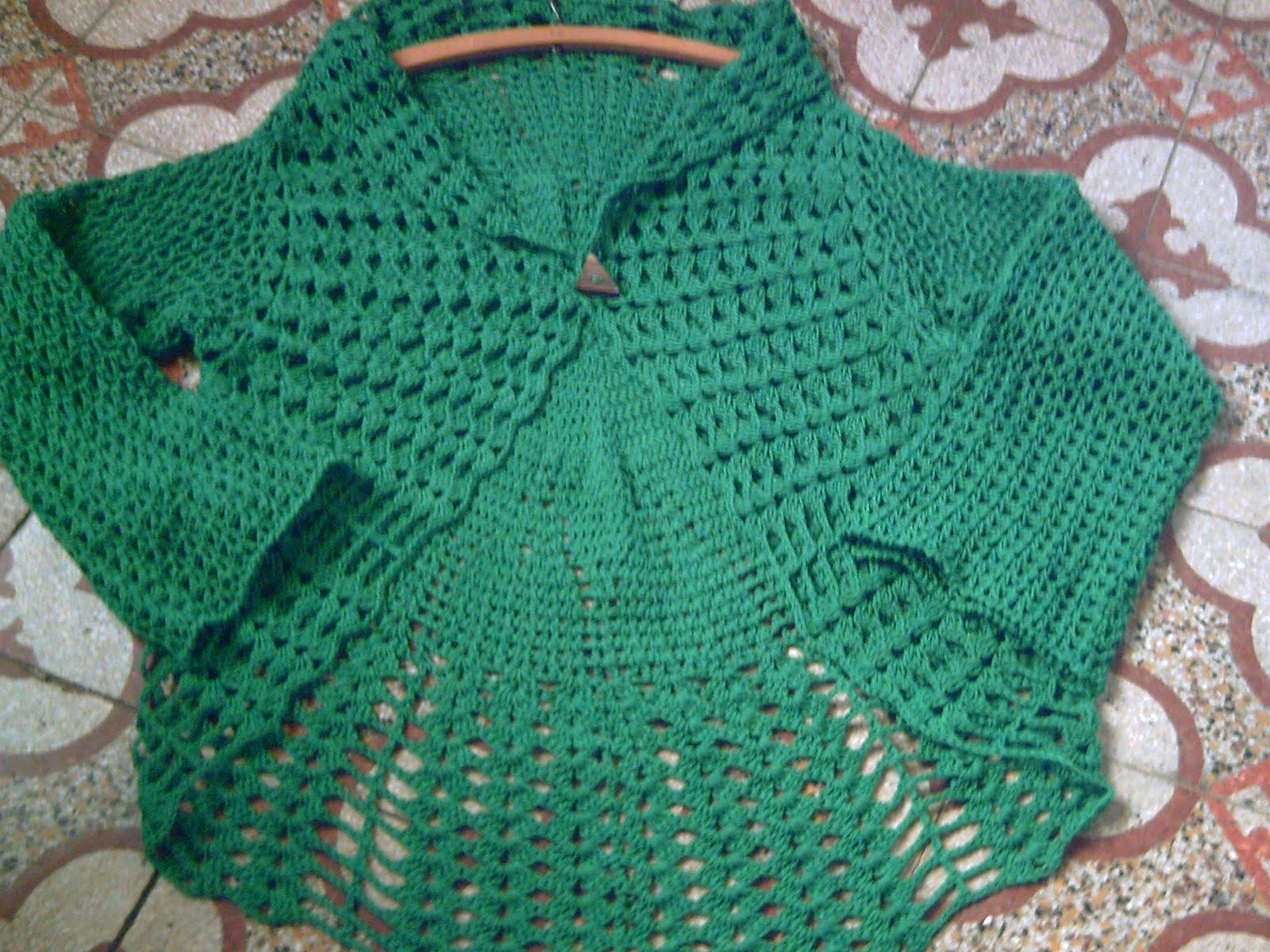 chaleco circular con mangas, tejido a crochet con hilo de algodòn
