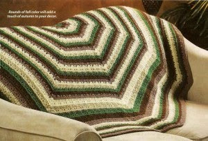 Hexagon & Octagon Motifs Afghan Vintage Crochet Pattern by