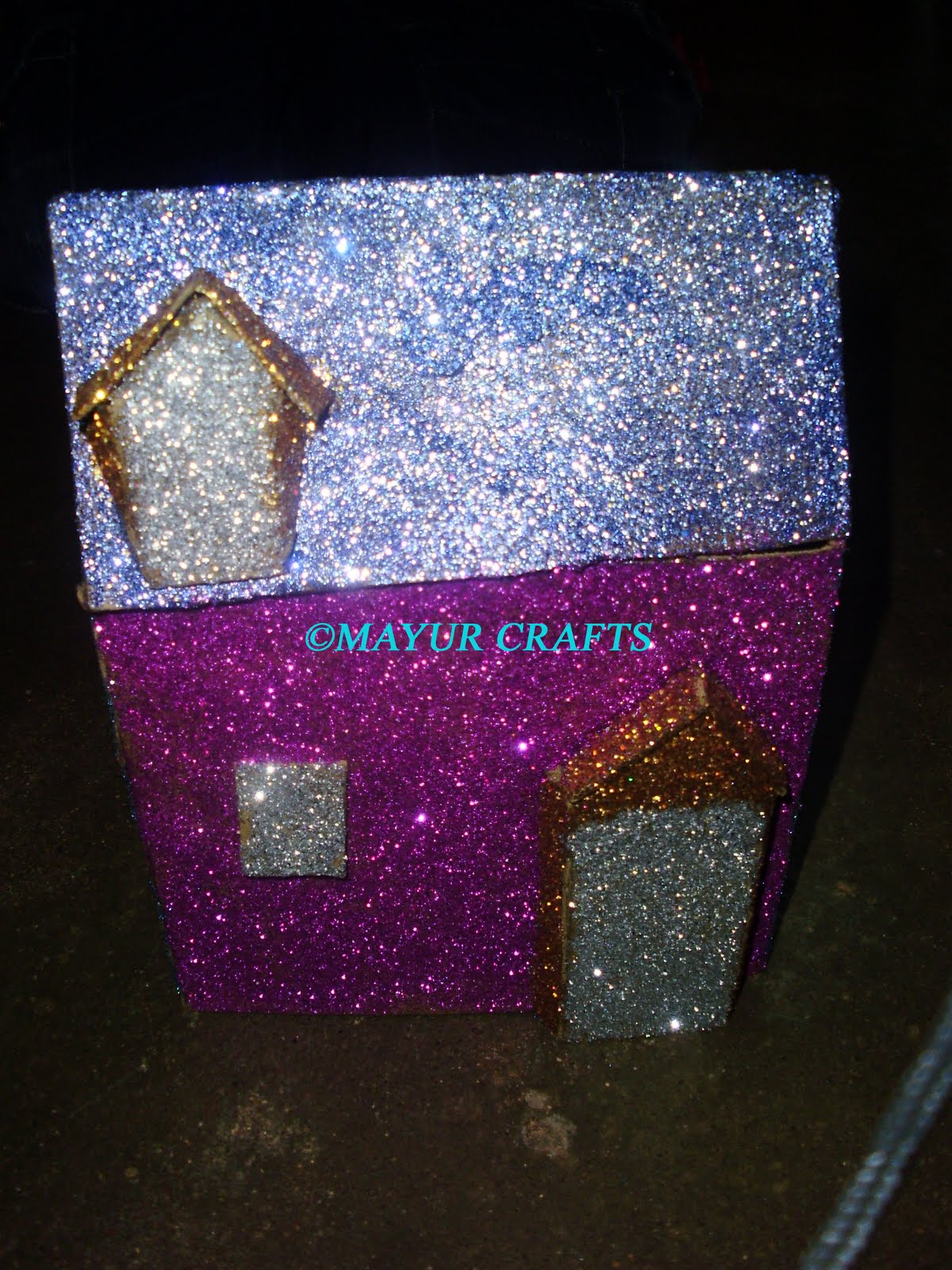 Mayur arts crafts glitter house for Arts and crafts glitter