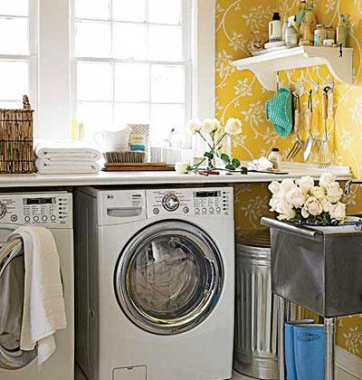 laundry room retro wallpaper - photo #39