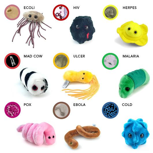 Stuffed Germ Toys 82