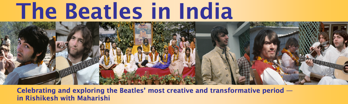 Bildresultat för the beatles i indien