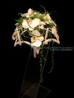флористический букет-зонт для невесты, теория флористики, мастер-класс, видео урок