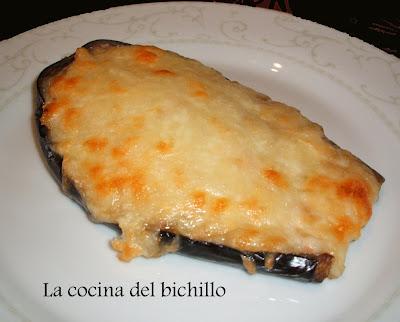 La cocina del bichillo berenjenas rellenas de merluza y for Cocina berenjenas rellenas