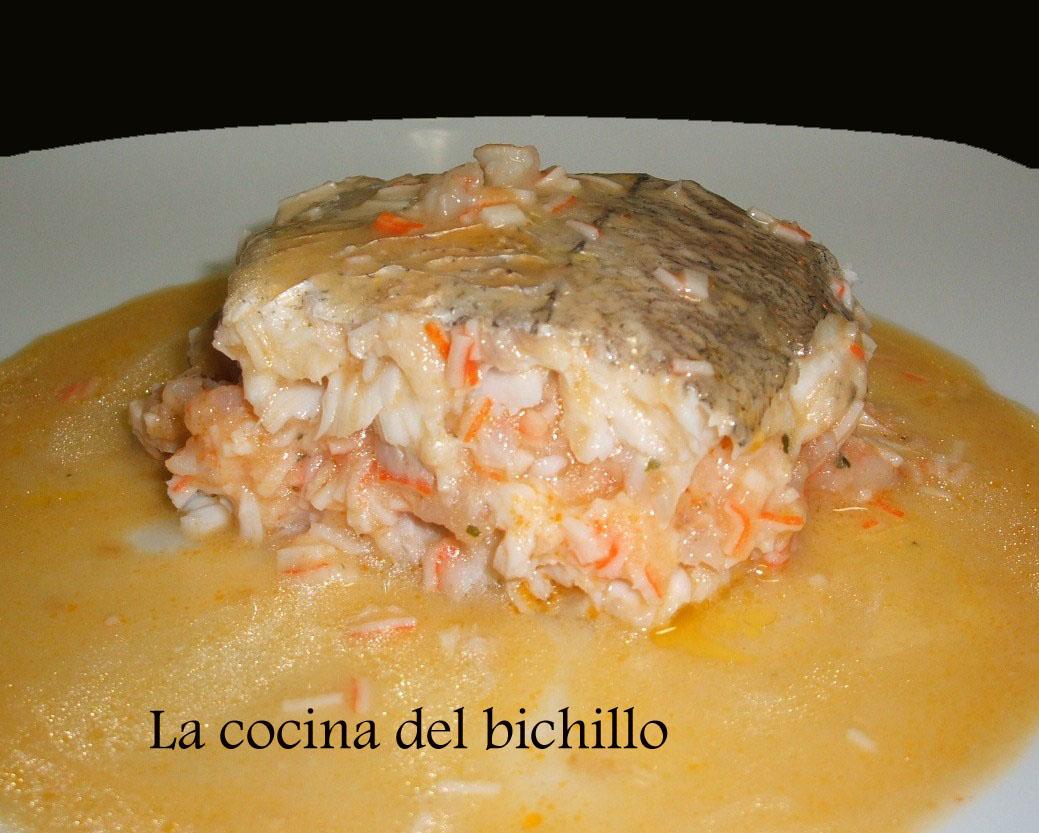 La cocina del bichillo merluza rellena al horno for Merluza rellena al horno