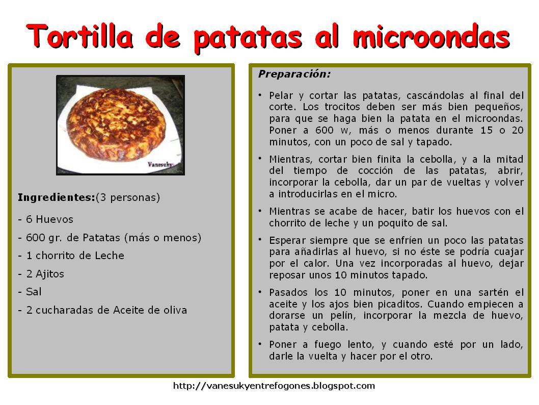 Vanesuky entre fogones tortilla de patatas al microondas - Tortilla en el microondas ...