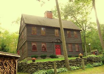 Early new england primitive exterior house colors joy for Primitive house plans