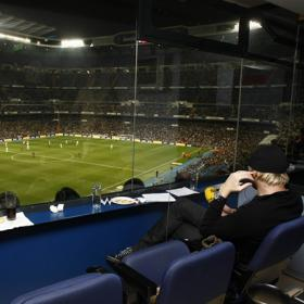 A VIP box at Real Madrid Stadium