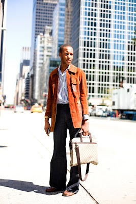 The Sartorialist: On the Street.....6th Ave, NYC :  jacket trousers black men