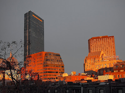Sunset over Boston's Back Bay