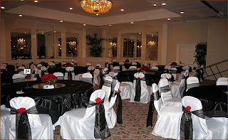 Luxury Black Wedding Reception Decorations