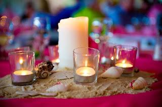 Romantic Beach Wedding Table Decorations 2011