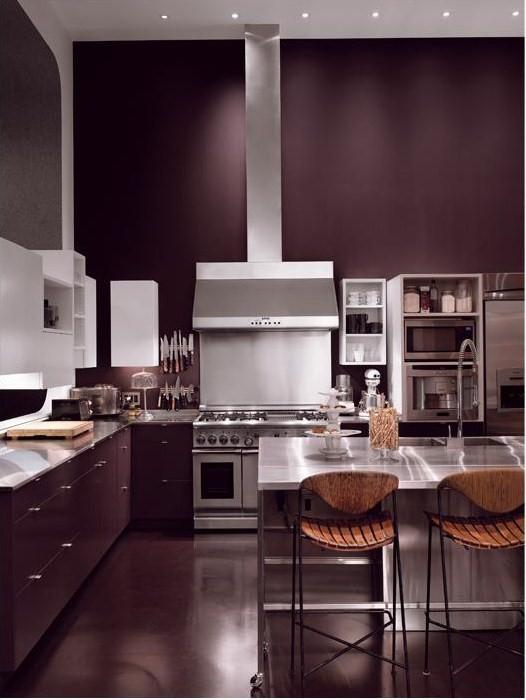 Eggplant Kitchen Cabinets