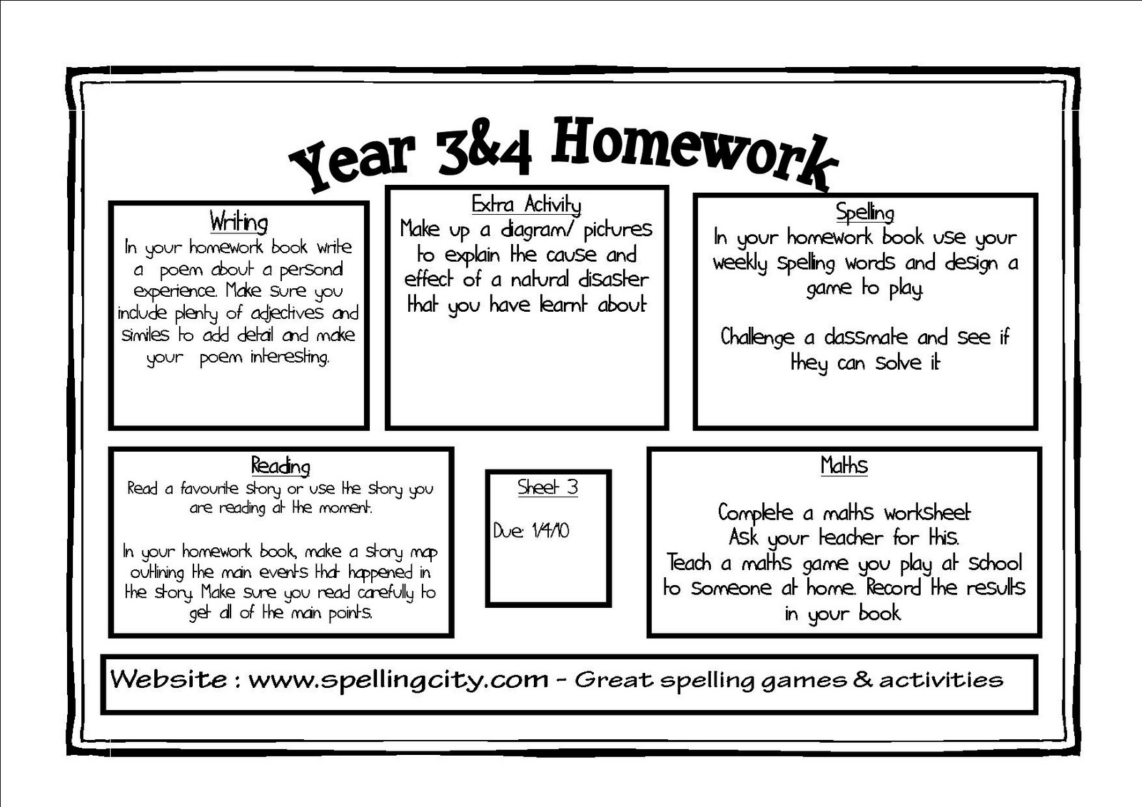homework sheets for year 3 1496121878