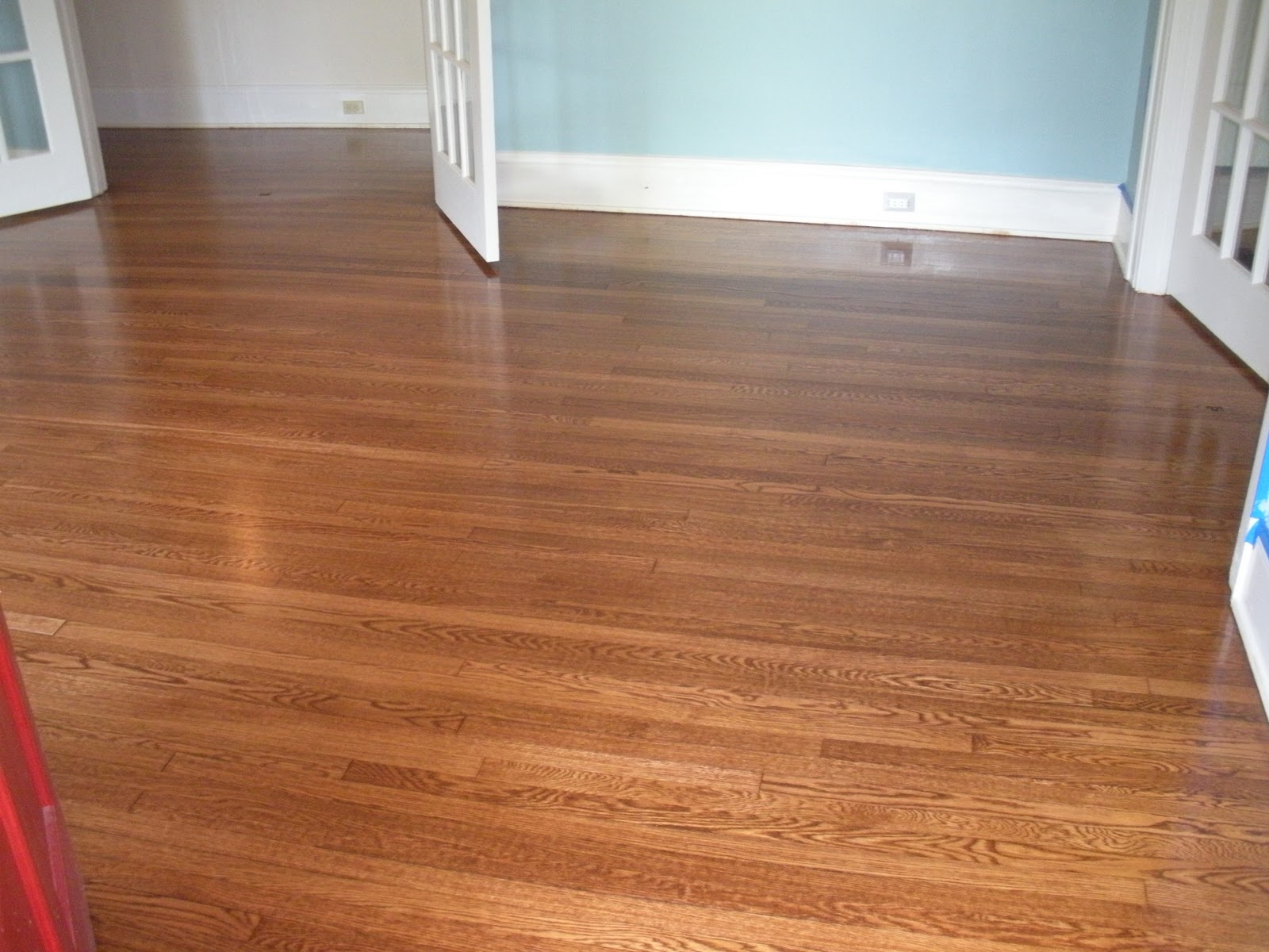 We went with MinWax English Chestnut for the stain and LOVED the color ...