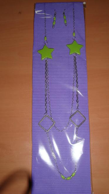 Colante estrellas verdes