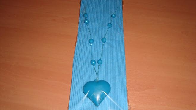 Colgante turquesa corazon