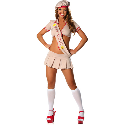 #4) Sexy Girl Scout. And we aren't done with the costumes heavily implying ...