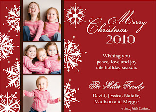 Christmas card with beautiful snowflakes