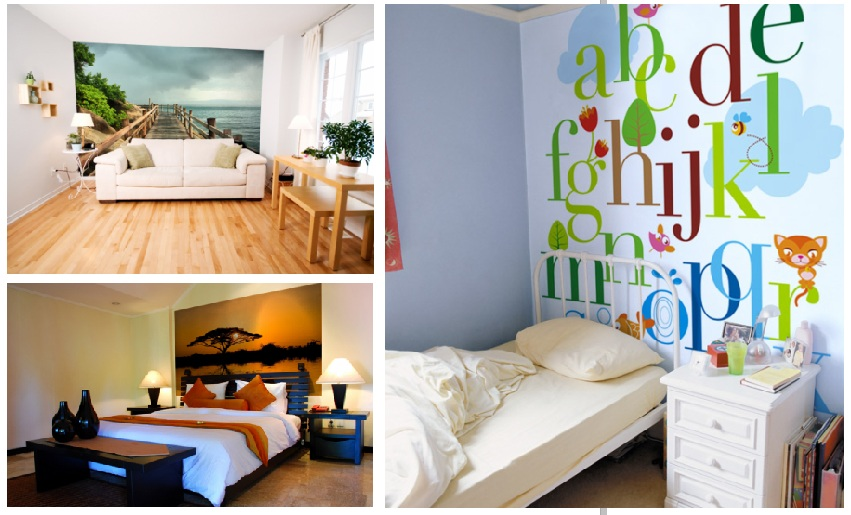 Pixellstick adhesivos decorativos concepto foto mural for Murales en paredes interiores