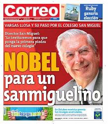 Portada del Diario Correo