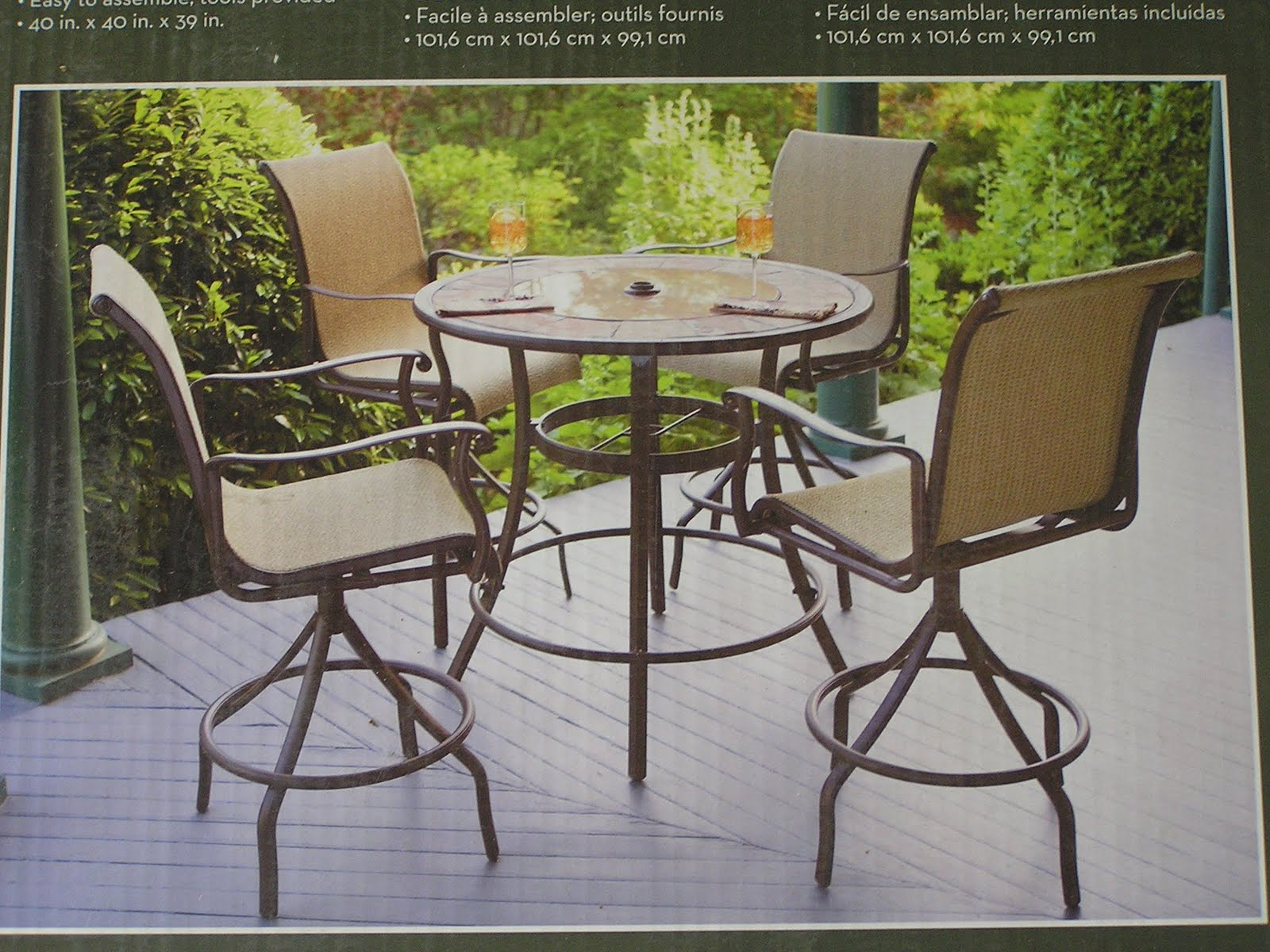 Patio table set patio design ideas for Deck table and chairs