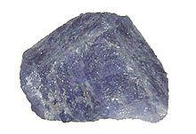 A rough sample of tanzanite