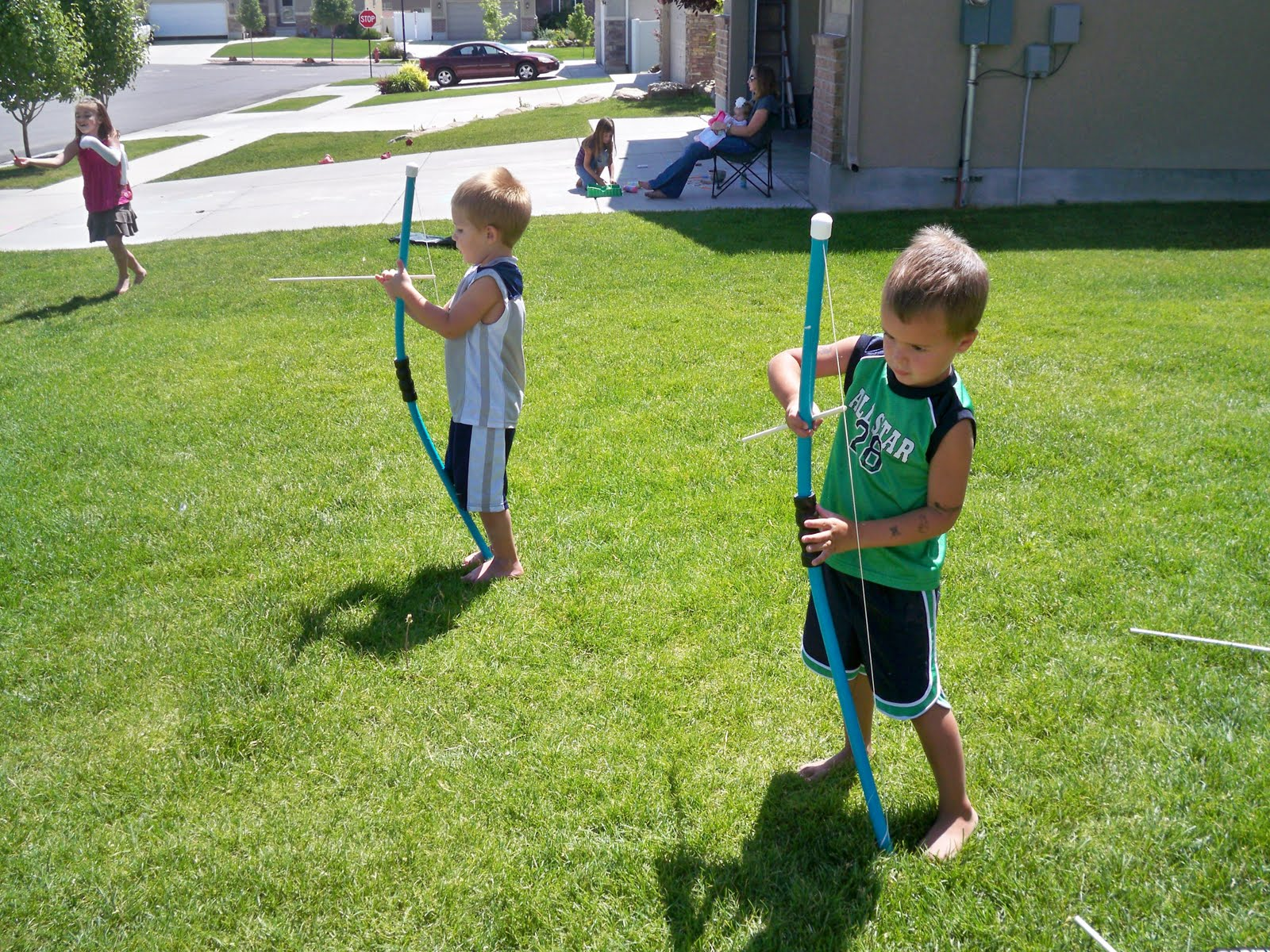 Make a pvc bow and arrow habyts for Kids pvc bow