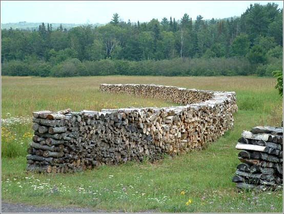 Creative woodpile designs pics curious funny