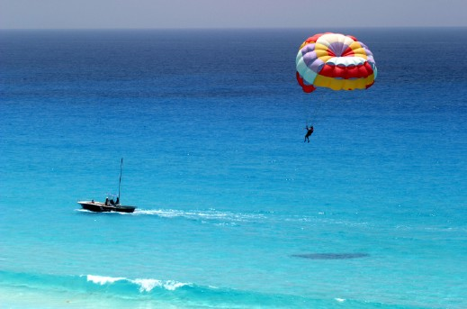 Parasailing -Soaking up the sun