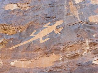 Lizard Petroglyphs at Dinosaur National Monument