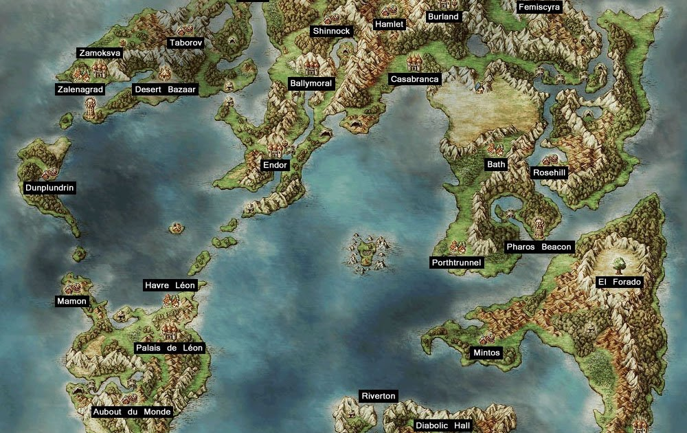 Dragon Quest Iv Walkthrough World Map