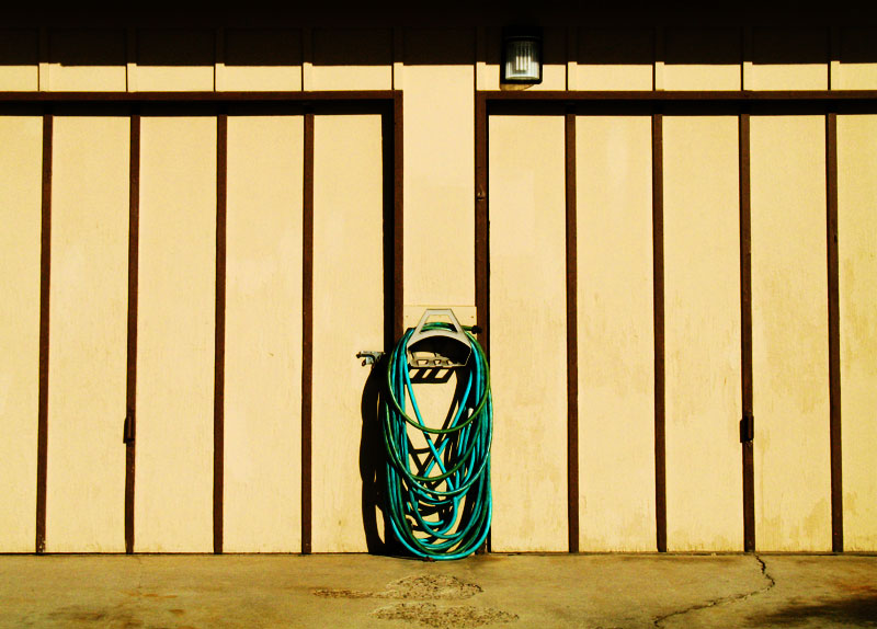 Garden hose and garage doors; click for previous post
