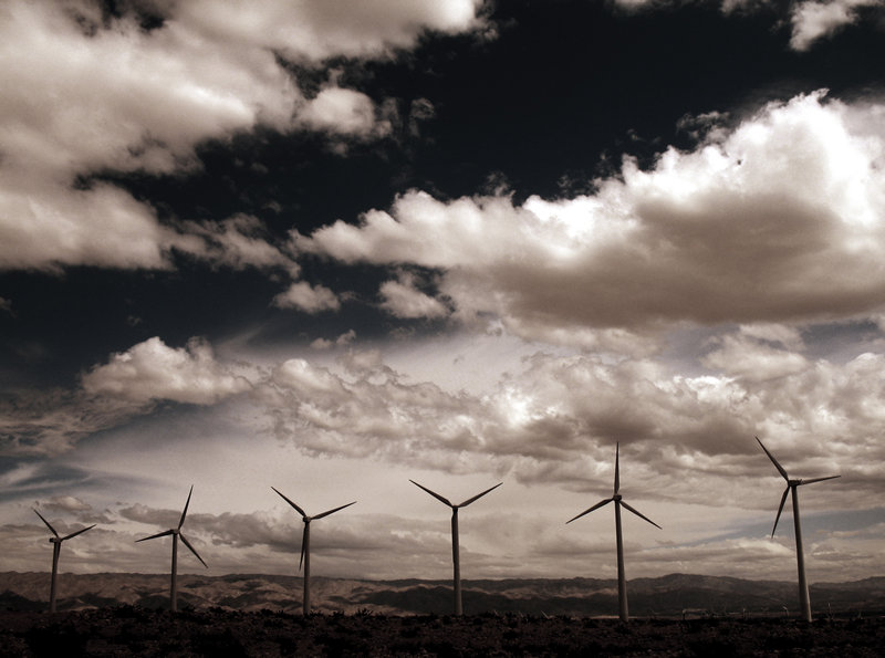 windmills in the desert; click for previous post