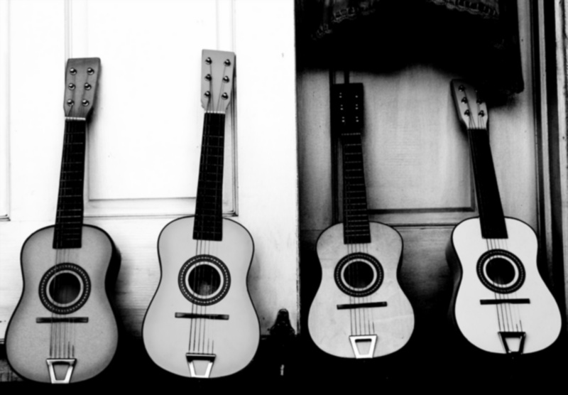 four little guitars; click for previous post