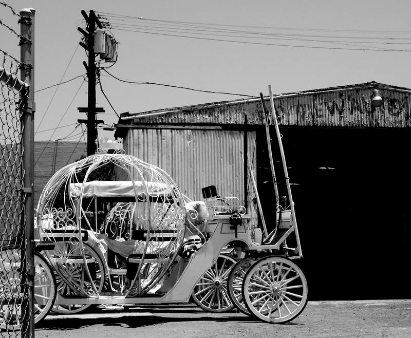 cinderella's carriage at the shop; click for previous post