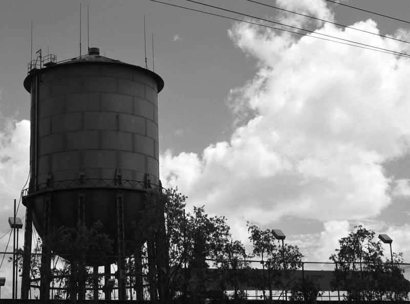 water tower and clouds; click for previous post
