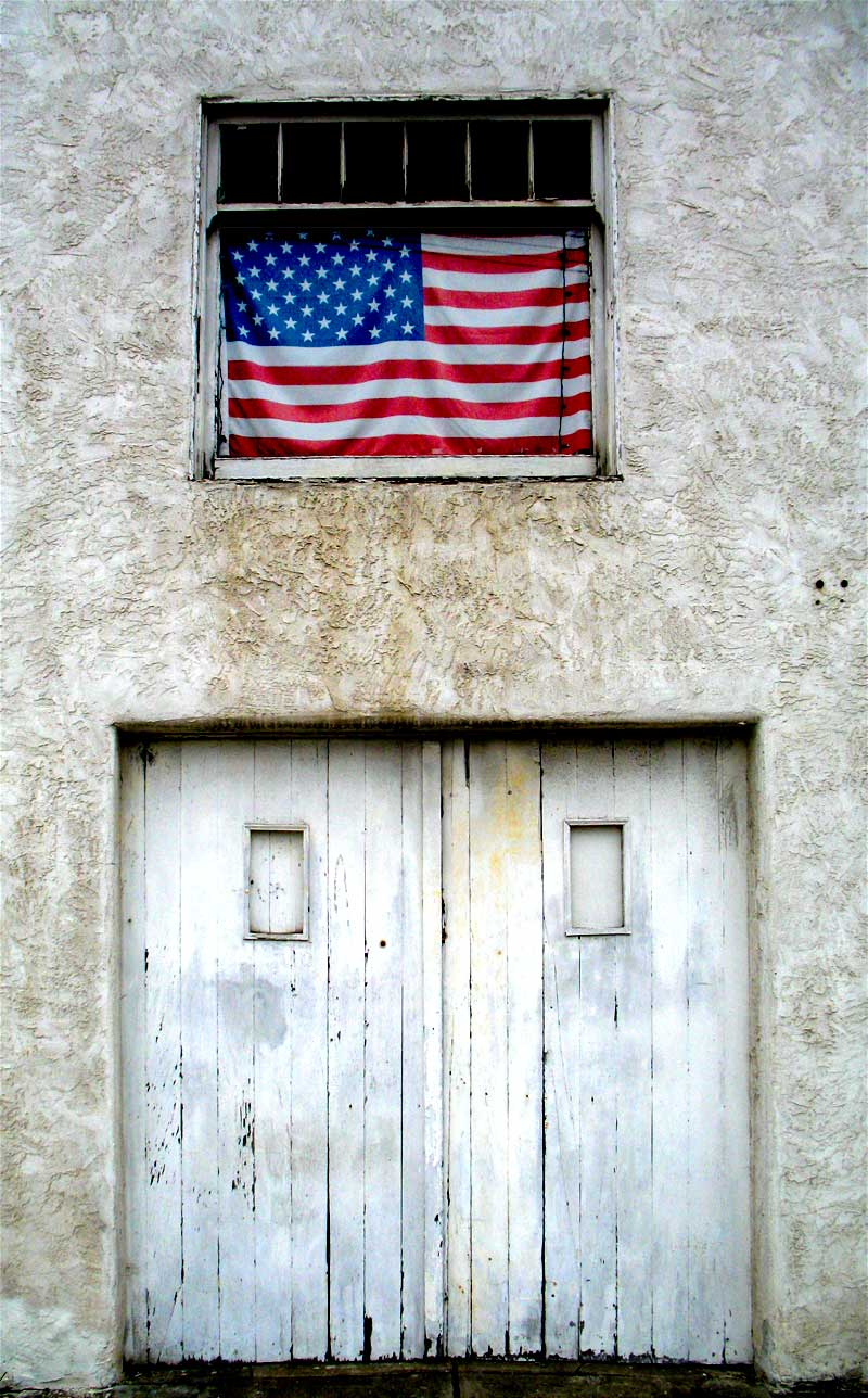 garage door and flag; click for previous post