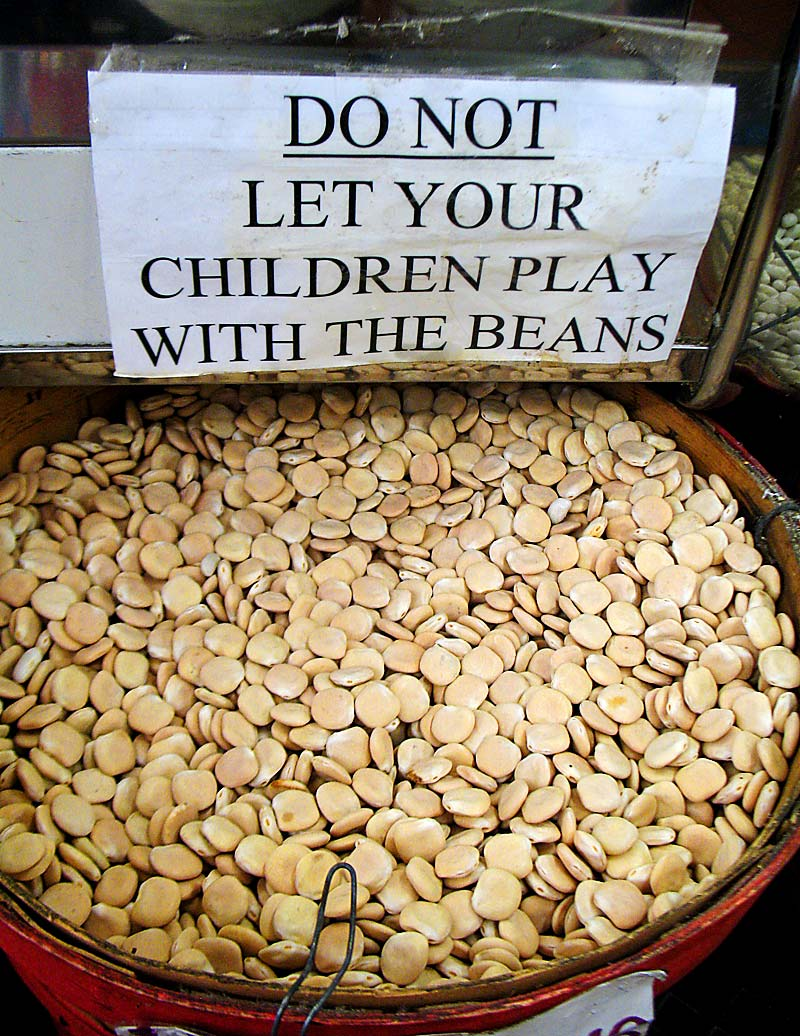Do not let your children play with the beans; click for previous post