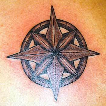 Nautical Star Tattoo Design for Men